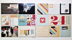 retrohipmama pocket layout // scrapbook // project life