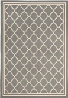 Living Room - Amazon.com: Area Rug 9x12 Rectangle Transitional Anthracite - Beige Color - Safavieh Courtyard Rug from RugPal: Furniture & Decor