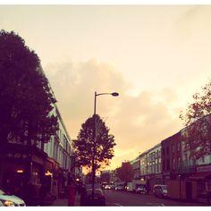 Dusky skies on Portobello Road