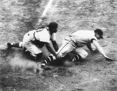 Photo Title  Bad Break  Photographer/Creator  Harry Leder  Collection  1948  Publisher  ACME Newspictures  Caption/Description  Jeff Heth, Boston Braves fielder, fracturing his left ankle as he slides toward home plate. Fourth photographer who caught the dramatic event. The incident occured September 29, the game was in Brooklyn and the Dodger catcher is Roy Campanella. Title may not be correct.