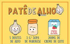 RECEITA-ILUSTRADA 159: Patê de alho - http://www.mixidao.com.br/receita-ilustrada-159-pate-de-alho/