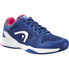 Women`s Revolt Pro 2.0 Tennis Shoes Navy and Pink (€110) ❤ liked on Polyvore featuring shoes, athletic shoes, navy blue shoes, special occasion shoes, evening shoes, breathable tennis shoes and navy shoes