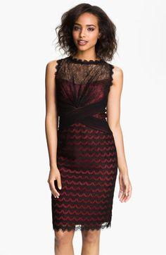 My dress! hehe Tadashi Shoji Illusion Yoke Scalloped Lace Overlay Dress available at Lace Overlay Dress, Lace Dress, Nice Dresses, Short Dresses, Prom Dresses, Dress Skirt, Dress Up, Girl Fashion, Fashion Dresses