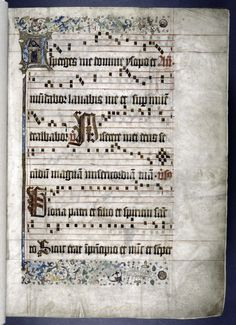 15th century gradual from the city of Haarlem in the Netherlands. Made for the monastery of Augustinian Hermits in Haarlem, apparently financed by a group of citizens of the town.