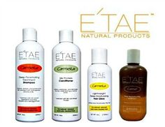 E'TAE Natural Hair Products Kit Contains Carmelux Shampoo Conditioner Gloss and ETAE Carmel Treatment Combo Kit