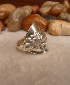 Sterling Silver Spoon Ring . Art Nouveau by AlbionSpoonRings