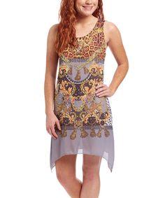 Look what I found on #zulily! Gray Leopard Silk-Blend Dress #zulilyfinds