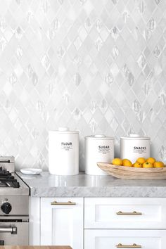 Calacatta Marble Countertop White Backsplash Tile Glass And Marble