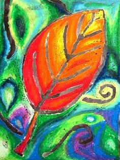Kaia21's art on Artsonia Used oil pastels and left the lines blank to be filled in with the paint