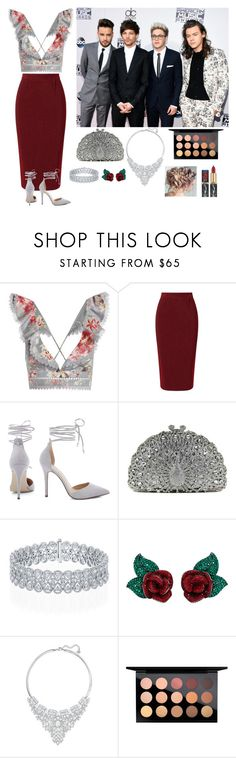 """Beauty and the Beast Red Carpet With the Boys"" by ch0nce1d ❤ liked on Polyvore featuring Zimmermann, Roland Mouret, Atelier Swarovski, Swarovski and MAC Cosmetics"