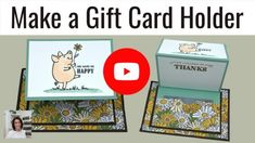 I'm going to show you how to make a gift card holder with a fancy fold. If you love creative ways to give mone. Best Gift Cards, Gift Cards Money, Cards Diy, Creative Birthday Gifts, Birthday Gift Cards, Fancy Fold Cards, Folded Cards, Gift Card Boxes, Gift Tags