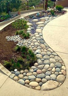 35 lovely rock garden landscaping ideas not every landscape is perfect and having a rock garden can help in many of those areas you might have an area that is just too shaded and you can t gorgeous front yard landscaping ideas 23023 Backyard Garden Landscape, Garden Paths, Garden Beds, Fence Garden, Garden Borders, Gravel Garden, Landscape Bricks, Garden Art, Landscape Fountains