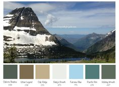 A color scheme inspired by our hike, 7000+ feet above sea level in Glacier National Park. #nature #color #design