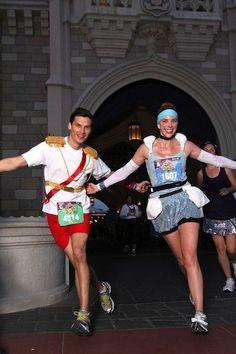 Run Walt Disney World & Disneyland runDisney races dressed as Cinderella and Prince Charming with these easy DIY running costume ideas!