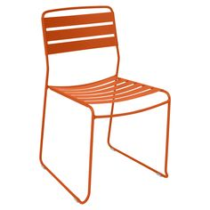 Surprising Dining Chair - From the maker of the Origami bench and the Surprising Lounger, comes the Surprising Chair! This stackable chair is made of laser-cut sheet steel and a steel rod frame.