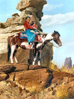 Navajo Mother and Child by Ray Swanson