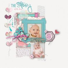 little dress by Sam #scrapbook #page #baby #designerdigitals