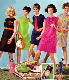 Picnic fashions, 1968  retro-I wore a few of these.