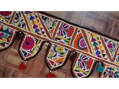 RAJKOTI Vintage toran door wall hanging Patchwork Window Home Décor valance #Unbranded