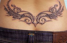 floral tattoo on lower back butt - Google Search