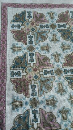 Cross Stitch Embroidery, Cross Stitch Patterns, Stitch 2, Handmade Rugs, Needlework, Embroidery Designs, Bohemian Rug, Quilts, Blanket