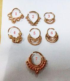 New arrival 16Gauge rose gold septum piercing nose ring septum piercing septum septum piercing jewelry