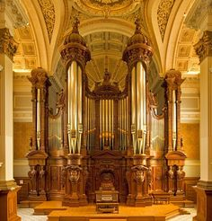 To see & hear a pipe organ first hand. They're beautiful & I love that deep chilling sound.