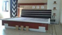 Bed Headboard Design, Bedroom Door Design, Bedroom Cupboard Designs, Luxury Bedroom Design, Bedroom Furniture Design, Bed Furniture, New Bed Designs, Bedroom Designs Images, Double Bed Designs