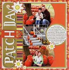 Patch Day (Fall) scrapbook page