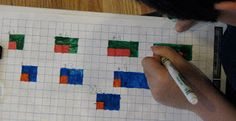 While perusing Mathwire , a photo under Investigating Growing Patterns inspired me to try a lesson with snap cubes . (Ironically, I& just . Maths 3e, Teaching Multiplication, Maths Algebra, Teaching Math, Math Math, Teaching Ideas, Math Patterns, Number Patterns, Third Grade Math