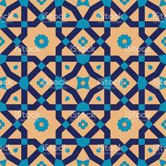 Arabic Floral Seamless Pattern. Traditional Arabic Islamic Background. royalty-free arabic floral seamless pattern traditional arabic islamic background stok vektör sanatı & antika'nin daha fazla görseli