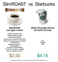 Simplemente SlimROAST starbucks, weightloss weight loss coffee Valentus ask me… Weight Loss Drinks, Weight Loss Smoothies, Starbucks, Slimming Coffee, Skinny Coffee, Best Protein Powder, Coffee Business, Smoothie King, Coffee Pictures