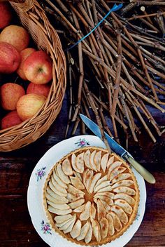 Tarte aux pommes à la fleur d'oranger