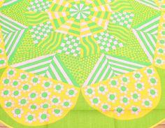Amazing vintage large round Tablecloth by TopNotchScandinavia