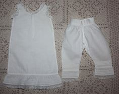 Antique Slip and Bloomers for China Head 1890