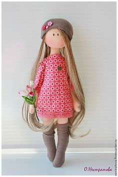 Rag dolls -- Click VISIT link above for more infoSo pretty handmade doll. Pretty Dolls, Cute Dolls, Beautiful Dolls, Doll Crafts, Diy Doll, Softies, Doll Toys, Baby Dolls, Homemade Dolls