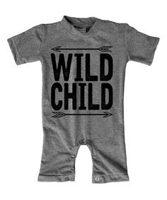 Loving this Heather Gray 'Wild Child' Playsuit - Infant on #zulily! #zulilyfinds
