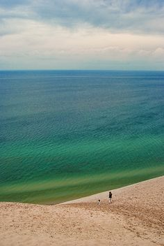 Sleeping Bear Dunes, Traverse City, MI/ This dune is a must see if you're going up that way....I didn't climb it(1,024 ft. high), but the view is AMAZING; this picture does not do it justice. #puremichigan