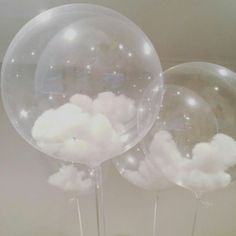 Cute and Easy DIY Pom-Pom Decoration Ideas in Your Budget. ☁☁ CLOUD BALLOONS ☁☁ these look even better in person! Clean balloons and puffed cotton balls?☁☁ CLOUD BALLOONS ☁☁ these look even better in person! Clean balloons and puffed cotton balls? Balloon Clouds, Clear Balloons, Balloon Garland, Glitter Balloons, Confetti Balloons, Balloon Inside Balloon, Moon Balloon, Transparent Balloons, Balloon Flowers