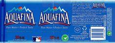 water bottle label