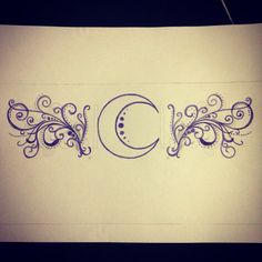 Pretty crescent moon tattoos | the House Of Night