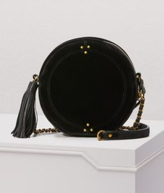 4d4940f54f3b Jérôme Dreyfuss creates desirable pieces like this Rémi velvet crossbody bag  for friends and urbanites alike