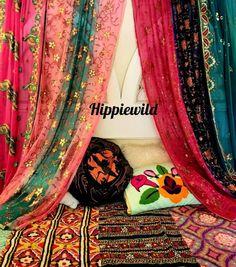 Patchwork Curtains, Bohemian Curtains, Silk Curtains, Shabby Chic Curtains, Bohemian Decor, Beaded Chiffon, Silk Chiffon, Sequin Wall, Unique Curtains