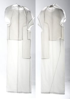 """Body in disorder"" Liu Zhangruipi Minimal Fashion, White Fashion, Fashion Art, Womens Fashion, Fashion Design, Textiles, Image Mode, Shirt Bluse, Contemporary Fashion"