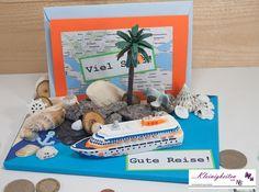 3D Karte Kreuzfahrt, Urlaubsgeld, Urlaub, Geld von Kleinigkeiten von NB  auf DaWanda.com Money Bouquet, Fox Cookies, Bear Cakes, Woodland Party, Holiday Cocktails, Blogger Themes, Cakes And More, Stampin Up, Goodies