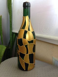 "Képtalálat a következőre: ""how to paint wine bottles to look like stained glass"""