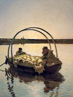 Giovanni Segantini (Italian, 1858-1899) Ave Maria on the Lake  1886