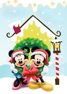 Mickey and Minnie Mouse Disney Christmas Decorations, Mickey Mouse Christmas, Mickey Mouse And Friends, Mickey Minnie Mouse, Disney Mickey, Walt Disney, Disney Magic, Christmas Music, Christmas Holidays