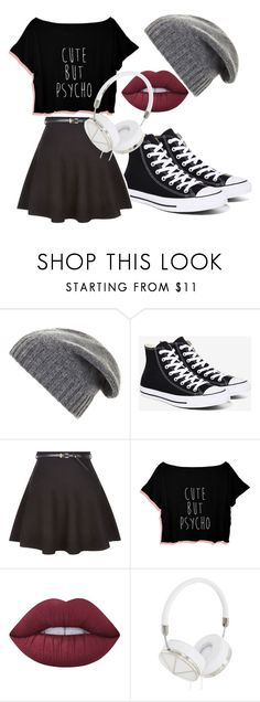 """My First Polyvore Outfit"" by samanthassump ❤ liked on Polyvore featuring BCBGMAXAZRIA, Converse, New Look, Lime Crime and Frends"