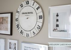 When creating gallery walls, I love to incorporate unexpected elements, like vintage clocks and mirrors in addition to a mixture of frames showcasing art & phot…